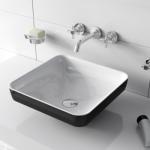 Vitra Jewels 40x40 crno beli lavabo